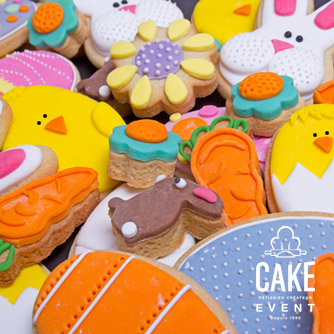 Assortment of Easter shortbread biscuits