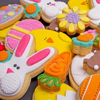 Assortiment de petits biscuits de Pâques